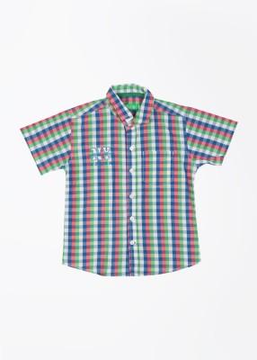 Palm Tree Boy's Printed Casual Green Shirt