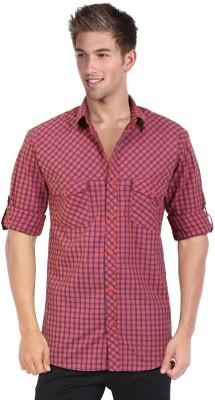 Blackburne Inc Men's Checkered Casual Pink, Blue Shirt