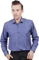 Jorzzer Roniya Formal Shirts (Men's) - Jorzzer Roniya Men's Checkered Formal Blue Shirt