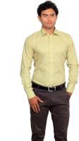 Green Bows Formal Shirts (Men's) - Green Bows Men's Solid Formal Yellow Shirt