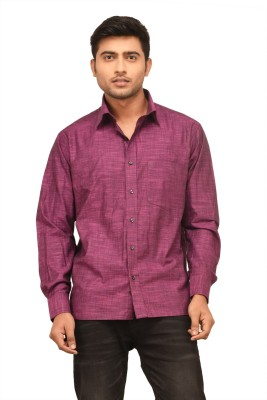 Alpha Centauri Men's Solid Casual Purple Shirt