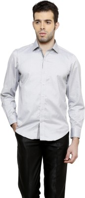 RICHARD COLE Men's Solid Formal Grey Shirt