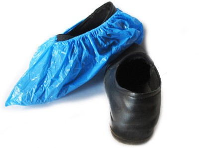 BeeMall SC025 Plastic Blue Boots Shoe Cover, Toes Shoe Cover, Flat Shoe Cover(Free size Pack of 12)