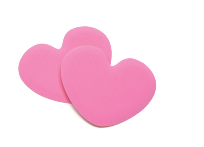 Foot Petals Tip Toes - Pink Heart PU Foam Ball of Foot Regular, Orthotic Shoe Insole(Pink)