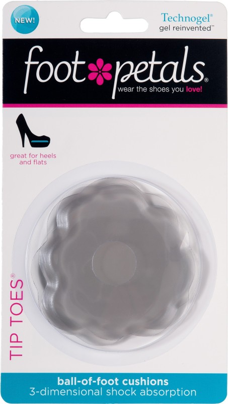 Foot Petals Foot Petals Technogel Tip Toe Gel Ball of Foot Regular, Orthotic Shoe Insole(Gray)