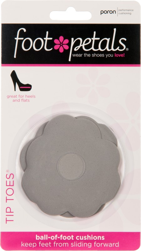 Foot Petals Tip Toes - Silver PU Foam Ball of Foot Regular, Orthotic Shoe Insole(Silver)