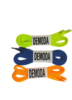 Demoda Flat Pack of Orange,Blue,Neon green Shoe Lace