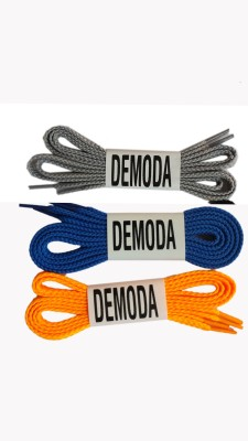 Demoda 003 Flat-Orange,Blue,Grey Shoe Lace