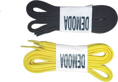 Demoda Flat Shoelaces(2Yellow,2Brown) Shoe Lace