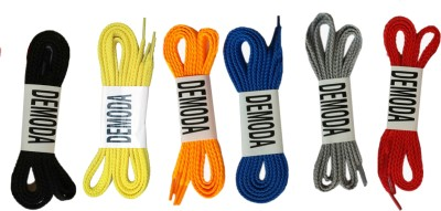 Demoda Flat(Pack of Black,Yellow,Orange,Blue,Grey,Red) Shoe Lace