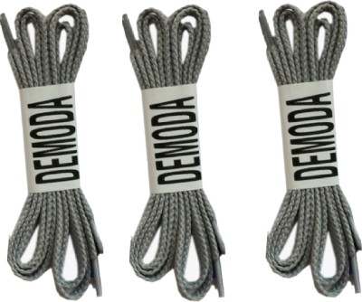 Demoda Flat Pack of 3 Grey Shoe Lace