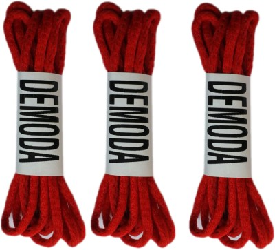 Demoda Round (Pack of 3-Red) Shoe Lace