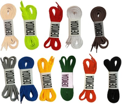 Demoda Flat laces (Pack of 11 Pair) Shoe Lace