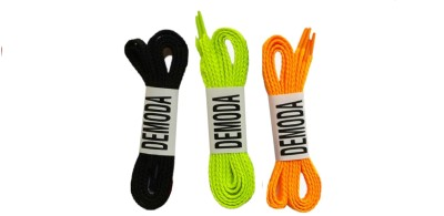 Demoda Flat pack of Black,Neon green,Orange Shoe Lace