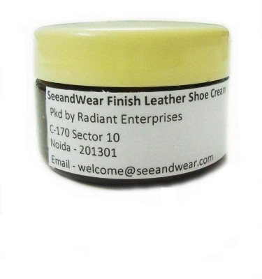 Seeand Wear Medium Shine Leather Shoe Cream(Brown)