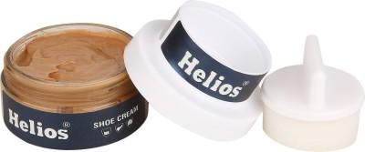 Helios SHOE CREAM(GLASS JAR)-L.BROWN Leather Shoe Cream