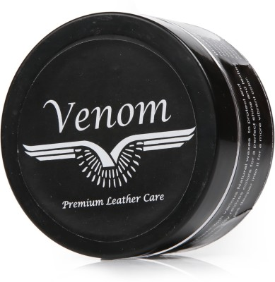 Venom Black Leather Shoe Cream(Black)