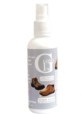 Glossy Gloss For Black Shoes Nubuck Shoe Liquid Polish(Black)
