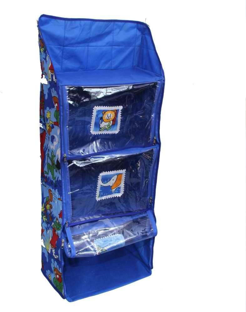 View Kuber Industries Hanging Cotton Collapsible Wardrobe(Finish Color - Royal Blue) Furniture (Kuber Industries)