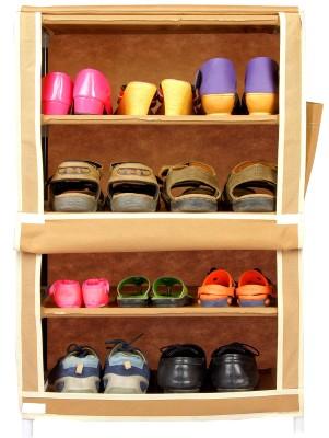 CbeeSo Stainless Steel Shoe Cabinet(Beige, 4 Shelves)