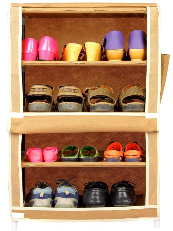 CbeeSo Steel Shoe Cabinet(Beige, 4 Shelves)
