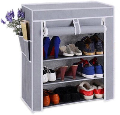 Pindia 4 Layer Design Rack Organizer Polyester Shoe Cabinet