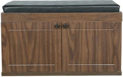 Parin Engineered Wood Shoe Cabinet(Brown, 2 Shelves)
