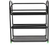 Benesta Steel Shoe Cabinet (Black, 3 She...