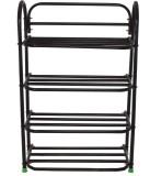 Benesta Steel Shoe Cabinet (Black, 4 She...
