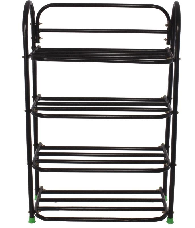 Benesta Steel Shoe Cabinet(Black, 4 Shelves)