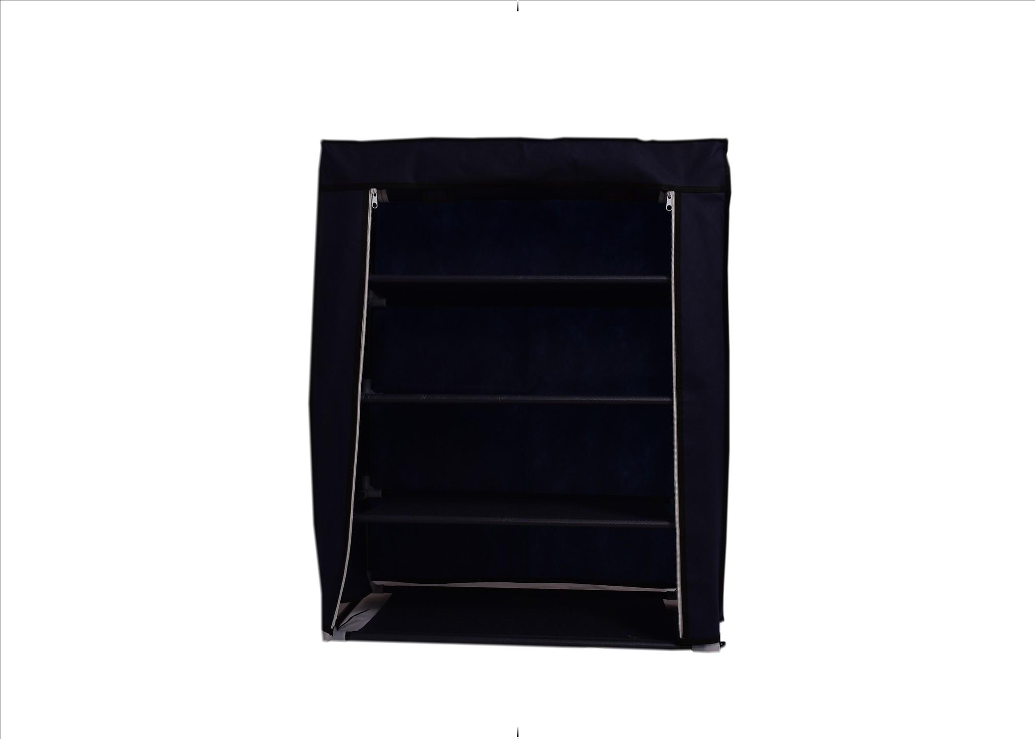 View Chrome Nylon Shoe Cabinet(4 Shelves) Furniture (Chrome)