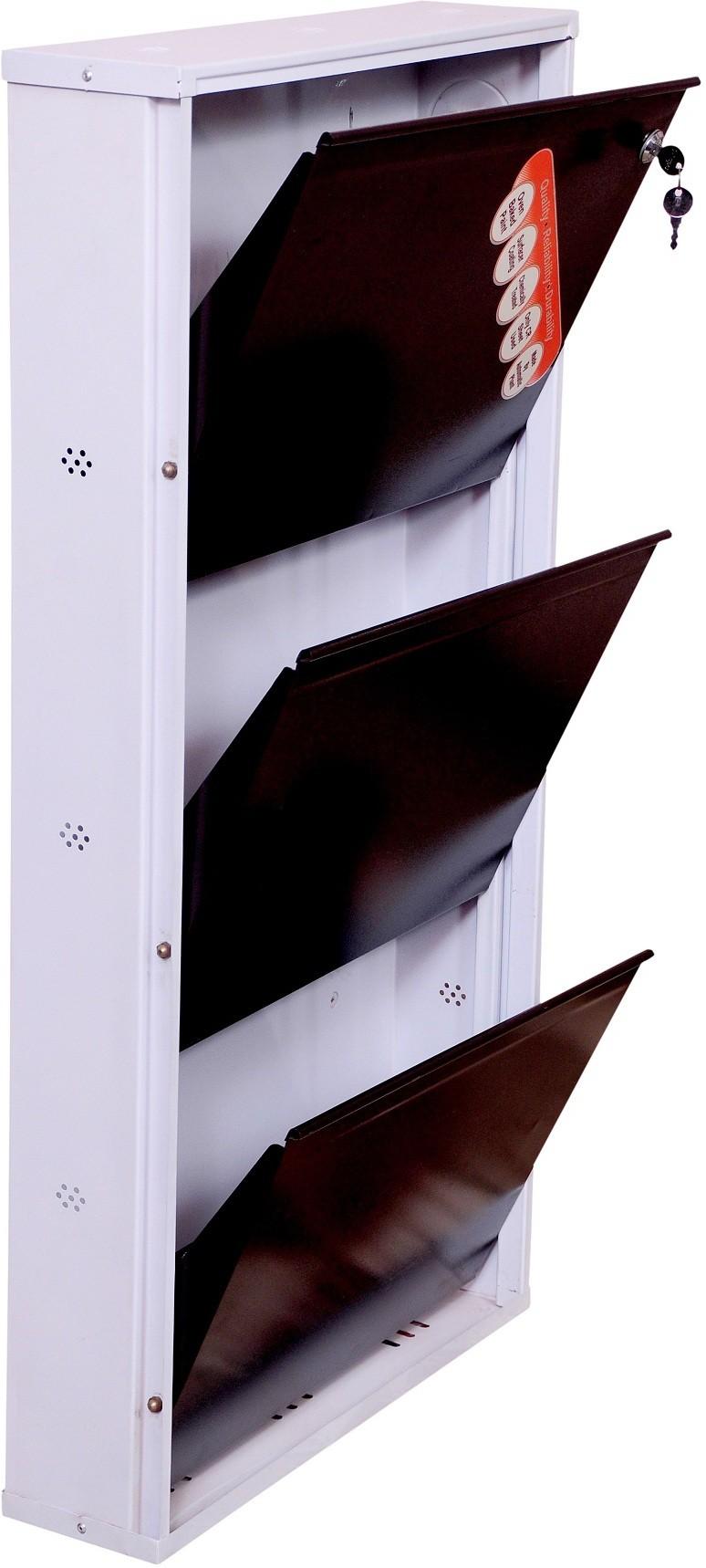 View Brats N Angels Carbon Steel Shoe Cabinet(3 Shelves) Furniture (Brats N Angels)