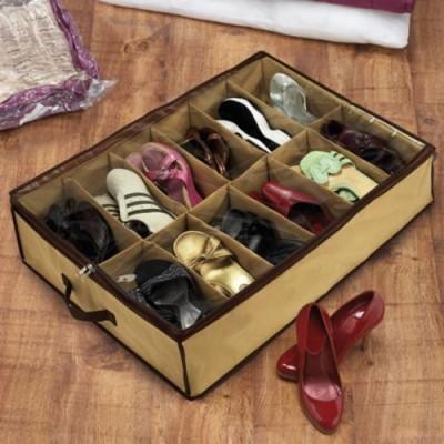 Saleh Cotton Underbed Shoe Rack