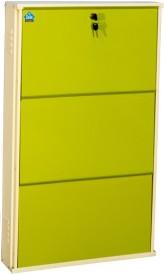 Delite Kom Metal Shoe Cabinet(Green, 3 Shelves)