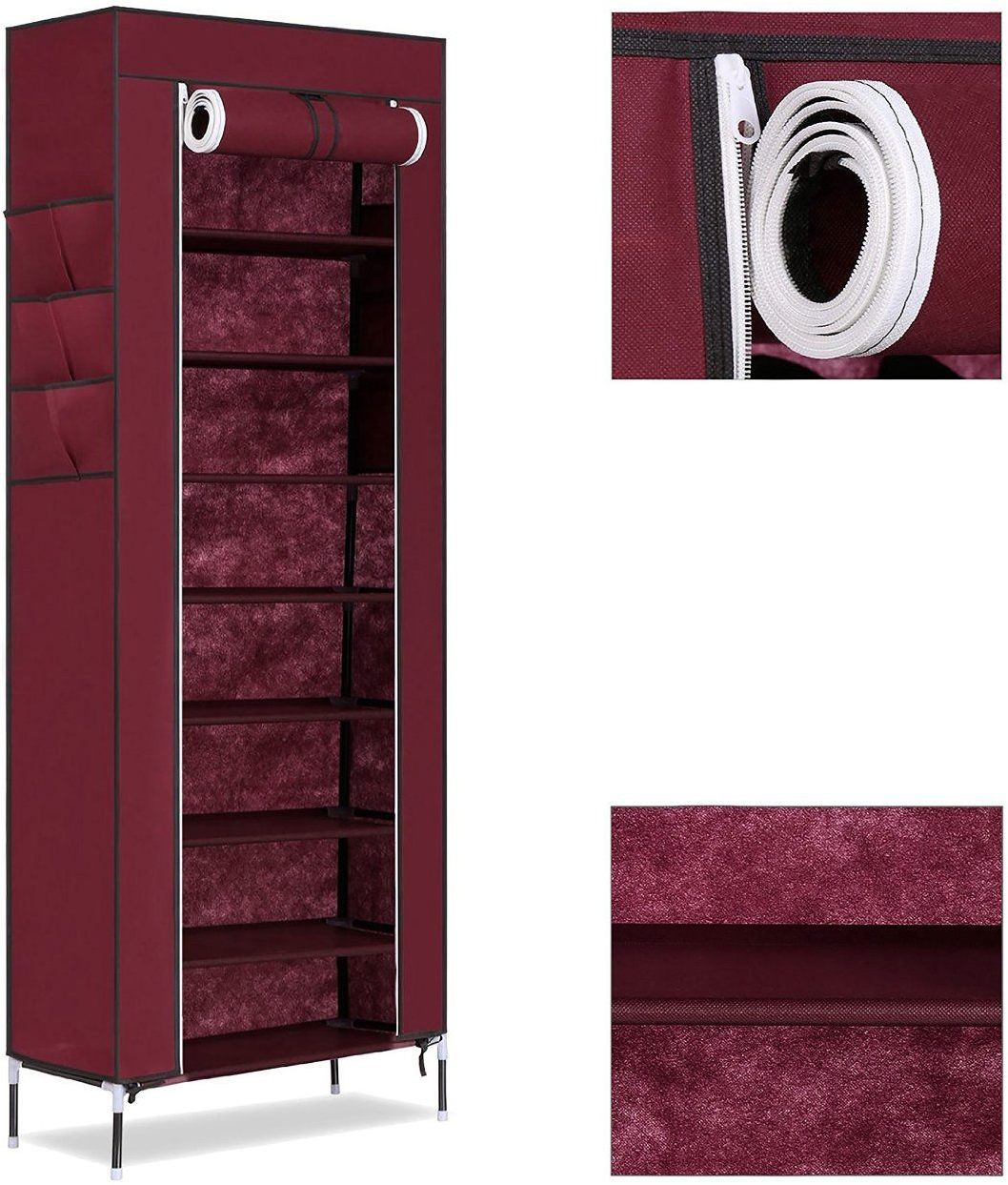 View Easydeals Fabric Shoe Cabinet(9 Shelves) Furniture (Easydeals)