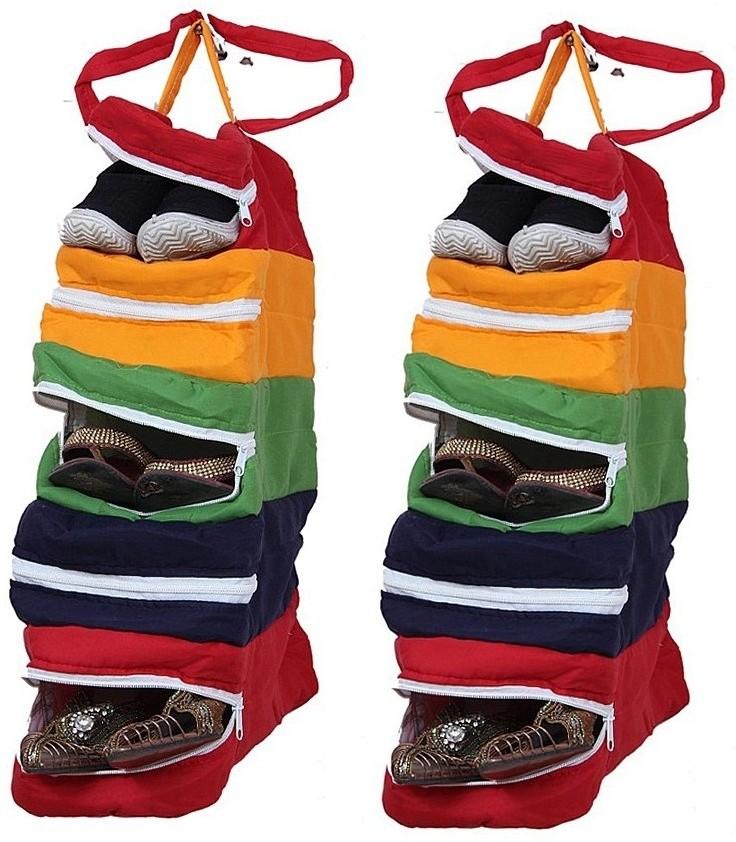 Furnishia Cotton Hanging Shoe Rack class=