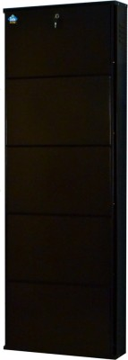 Delite Kom Metal Shoe Cabinet(Brown, 5 Shelves)