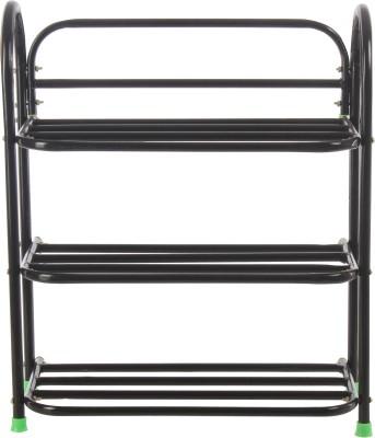 Benesta Steel Shoe Cabinet(Black, 3 Shelves)