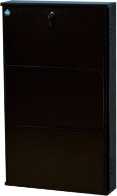 Delite Kom Metal Shoe Cabinet(Brown, 3 Shelves)