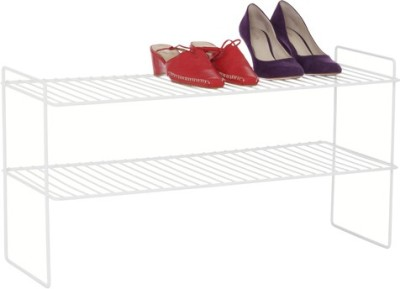 Howards 2 Tier White Steel Standard Shoe Rack