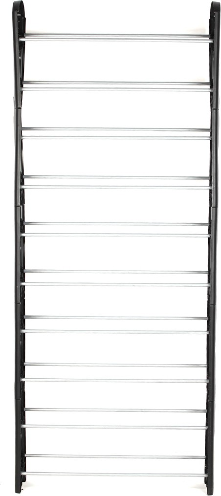 View Pearl 10 Layers Shoe Rack 1.6 m Metal Shoe Cabinet(Black) Furniture (Pearl)