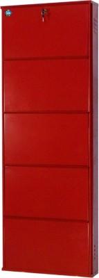 Delite Kom Metal Shoe Cabinet(Red, 5 Shelves)