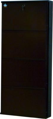 Delite Kom Metal Shoe Cabinet(Brown, 4 Shelves)