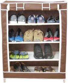 Novatic Plastic Shoe Cabinet(4 Shelves)