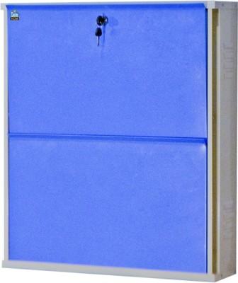 Delite Kom Metal Shoe Cabinet(Blue, 2 Shelves)