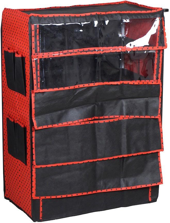 View Pretty Krafts Microfibre Shoe Cabinet(Black) Furniture (Pretty Krafts)