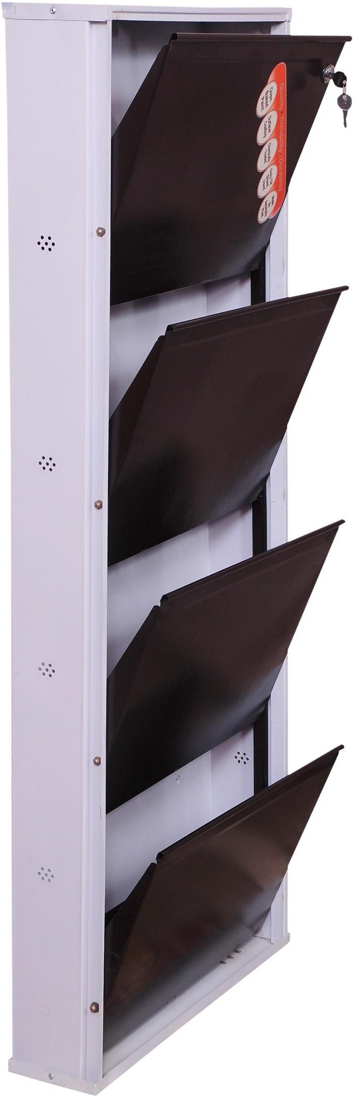 View Brats N Angels Carbon Steel Shoe Cabinet(4 Shelves) Furniture (Brats N Angels)