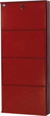 Delite Kom Metal Shoe Cabinet(Red, 4 Shelves)