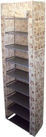 EtsiBitsi Fabric, Aluminium, Plastic Shoe Cabinet