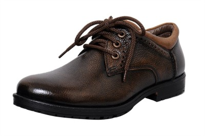 Zoom Zoom Men's Pure Leather Formal Shoes D-3561-Brown-10 Lace Up